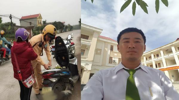 """Giúp cô gái lạ đổ xăng trên đường đi, chàng CSGT vô tình khiến cộng đồng mạng""""dậy sóng"""""""