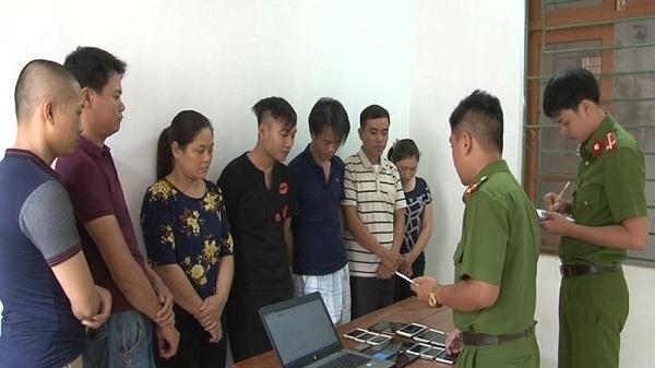 Ninh Bình: Bắt khẩn cấp 7 đối tượng tổ chức đánh bạc công nghệ cao