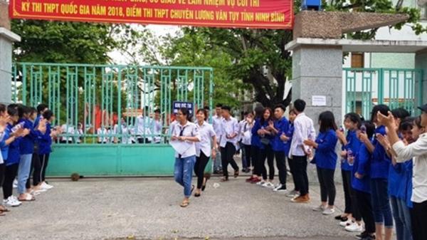Ninh Bình: 2 thí sinh bị đình chỉ, 35 thí sinh bỏ thi ngày đầu thi THPT Quốc gia 2018