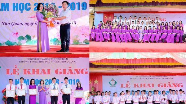 Ninh Bình: Những hình ảnh đẹp trong buổi khai giảng năm học 2018-2019 của thầy trò THPT Nho Quan C