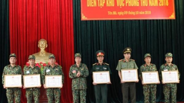 Yên Mô bế mạc diễn tập khu vực phòng thủ huyện năm 2018