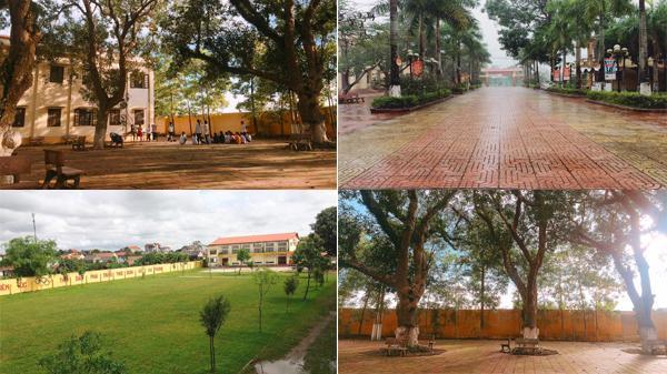 Hình ảnh trường THPT Yên Khánh A vào thu đẹp đến nao lòng, khiến ai đi xa cũng phải nhớ nhung da diết