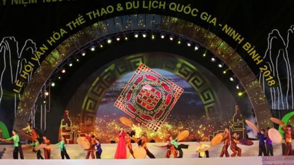 Toàn cảnh khai mạc lễ hội Văn hoá, Thể thao và Du lịch quốc gia- Ninh Bình năm 2018