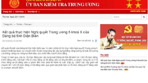 Điện Biên: Thi hành kỷ luật hơn 1.000 đảng viên vi phạm
