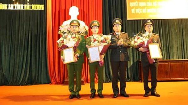 Thông báo: 3 Phó giám đốc Công an tỉnh Hải Dương được bổ nhiệm công việc mới