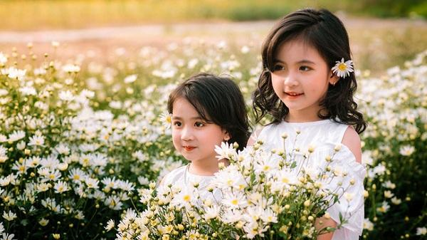 """Đánh bại tất cả các bộ ảnh khác, 2 chị em đến từ Hải Dương soán ngôi """"công chúa mùa cúc họa mi"""" năm nay vì quá xinh"""
