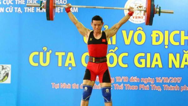 Đinh Xuân Hoàng (Ninh Bình) xuất sắc phá kỷ lục ở nội dung cử đẩy 162kg