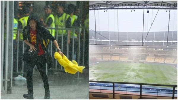 Thời tiết tại Kuala Lumpur đang đe d.ọa đến trận chung kết AFF Cup 2018 giữa Việt Nam và Malaysia