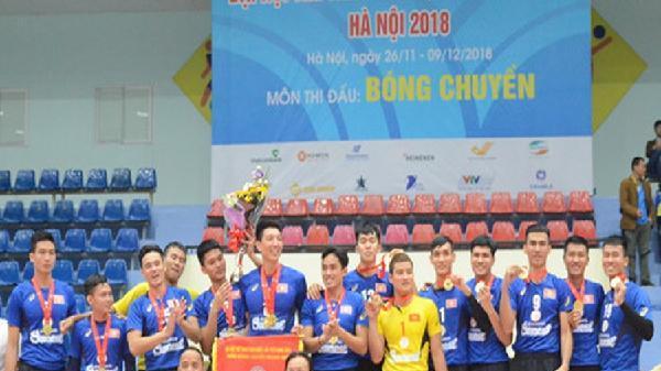 Đại hội thể thao toàn quốc: Bóng chuyền nam Ninh Bình bất lực trước phong độ cao của đội Khánh Hòa
