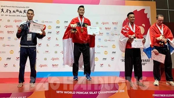 Chúc mừng: 2 võ sĩ người Hải Dương giành huy chương bạc tại Giải vô địch thế giới pencak silat 2018