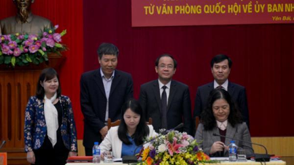 HOT: Chuyển giao Văn phòng Đoàn đại biểu Quốc hội tỉnh về Ủy ban nhân dân tỉnh Yên Bái