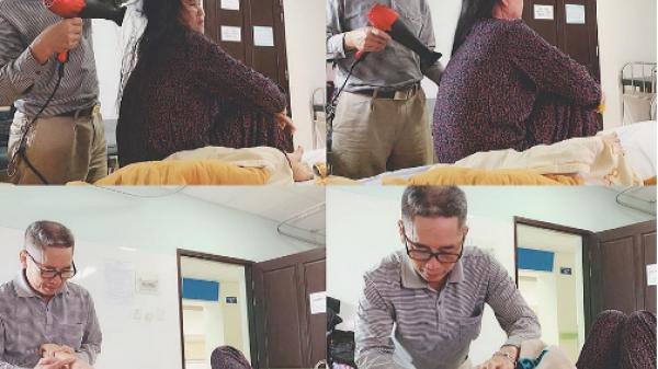 50 tuổi vẫn chăm sóc vợ như 'công chúa': Cặp vợ chồng trung niên ở Yên Bái khiến cả bệnh viện ngưỡng mộ