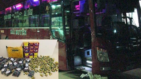 Phát hiện xe khách vận chuyển gần 30 kg pháo n.ổ từ Nghệ An đi Ninh Bình