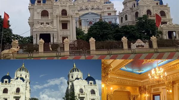 Ninh Bình:Cận cảnh 2 LÂU ĐÀI đồ sộ, dát vàng thiết kế như cung Vua nổi tiếng nhất tỉnh