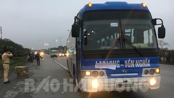 Hải Dương: Xe khách và xe máy va chạm gần ngã tư bến Hàn, 1 người t.ử v.ong