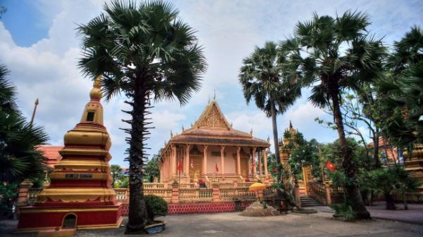 Loạt ảnh kiến trúc đặc sắc của ngôi chùa Kh'Leang ở Sóc Trăng