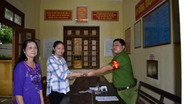 Ninh Bình: Công an phường Phúc Thành trao trả gần 16 triệu đồng cho người bị mất