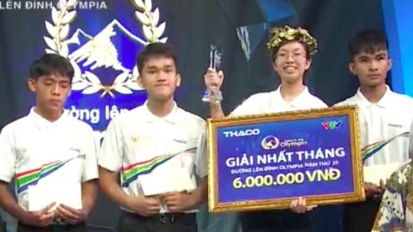 Nữ sinh Ninh Bình lập kỷ lục tại 'Đường lên đỉnh Olympia' vào cuộc thi quý
