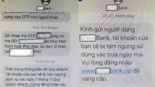 Bộ Công an cảnh báo thủ đoạn nhắn tin tinh vi mạo danh ngân hàng