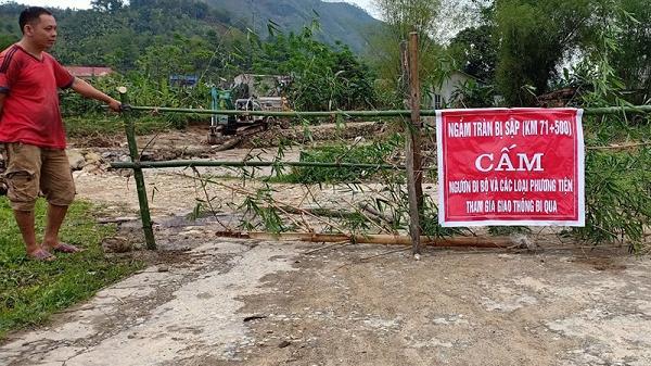 THÔNG BÁO: Cầu tràn tạm tại xã Nghĩa Đô bị gẫy, cấm người và phương tiện qua lại
