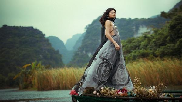 Quán quân Next Top Kim Dung đẹp mong manh giữa khung cảnh sông nước Tràng An-Ninh Bình