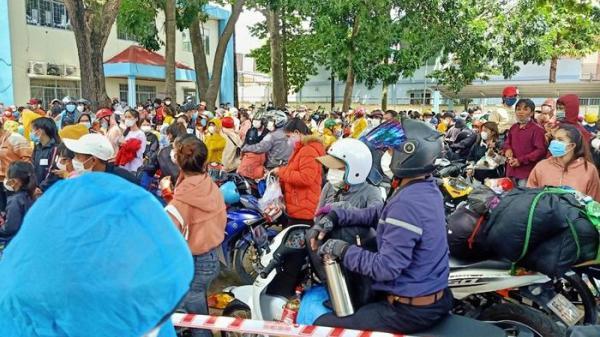 Ninh Thuận: Niềm vui của hơn 1.200 công nhân ở Đồng Nai được về quê tránh dịch