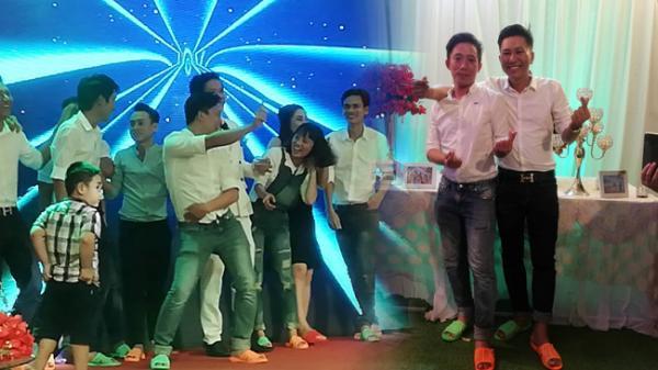 'Biệt đội dép tổ ong' đủ màu sắc hào hứng đến đám cưới ở Bình Thuận