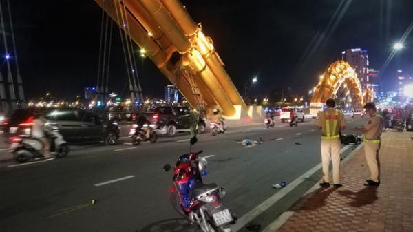 Đà Nẵng: Va chạm xe máy trên cầu Rồng, một người t.ử v.o.ng tại chỗ