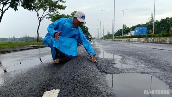 """Cận cảnh con đường """"sống trâu siêu to, khổng lồ"""" nguy hiểm ở Đà Nẵng"""
