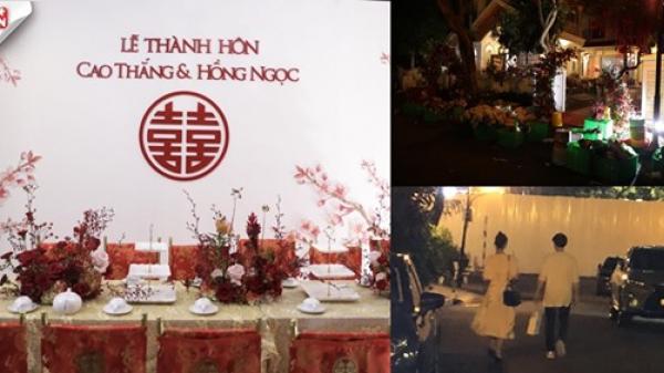 Biệt thự nhà Ông Cao Thắng ngập tràn hoa tươi sẵn sàng cho lễ cưới