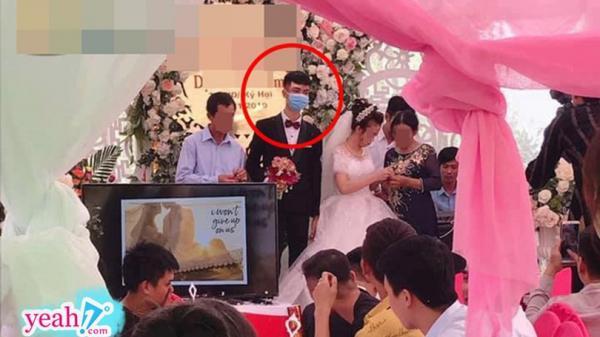 Đám cưới gây xôn xao MXH: Chú rể mang khẩu trang lên làm lễ, nhưng nét mặt anh chàng mới thật sự khó hiểu
