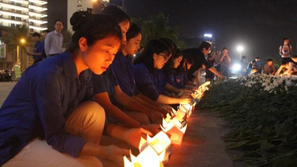 Đà Nẵng: 1.000 hoa đăng tưởng niệm nạn nhân t.ử v.ong TNGT
