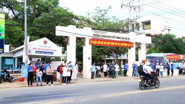 Ninh Thuận: Vì sao thí sinh vào phòng thi không phải đeo khẩu trang?