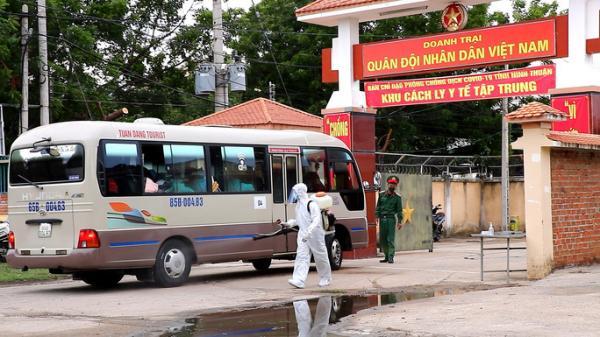 Ninh Thuận: Đón 230 công dân Việt Nam về từ Malaysia