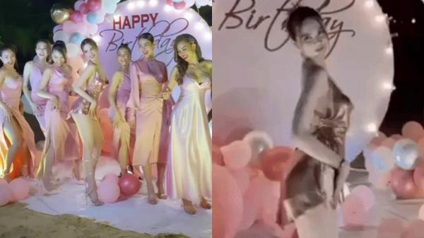 """Ngọc Trinh mở tiệc sinh nhật sớm: Cả dàn bạn sexy đến dự, """"thót tim"""" màn nhảy 5s khiến vòng 1 chực chờ nhảy ra ngoài"""