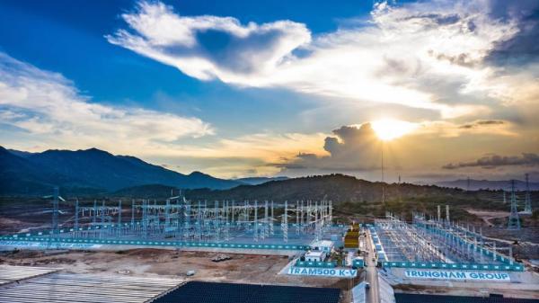 Ninh Thuận: Đóng điện thành công Trạm biến áp nhà máy điện Mặt Trời