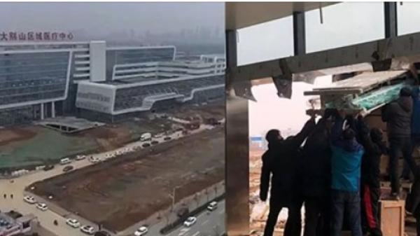 Bệnh viện đối phó dịch Corona hoàn thiện trong 48 giờ ở Trung Quốc mở cửa