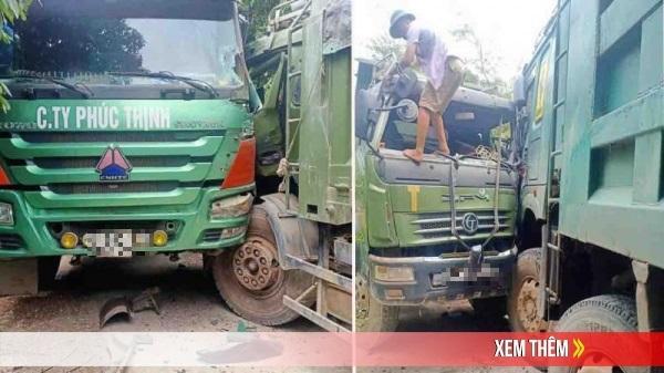 VỪA XONG tại Lạng Sơn: 2 xe ben đ.ấu đ.ầu nghiêm trọng, cabin b.ẹp rú.m n.át t.an tài xế mắc k.ẹt thương tâm