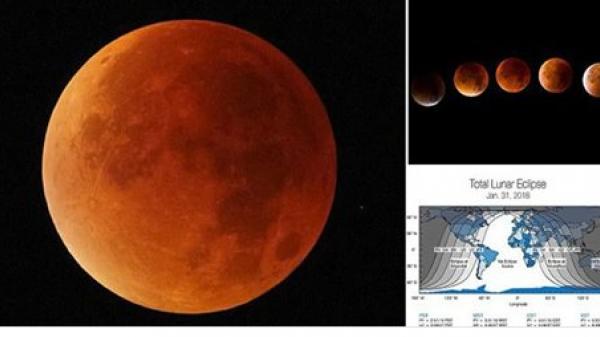 150 năm có 1 lần: Siêu Trăng, Trăng máu, Trăng xanh cùng hội tụ vào ngày mai - đừng bỏ lỡ hiện tượng thiên văn thế kỷ này