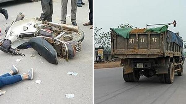 Phú Thọ: Va chạm với xe tải, 2 cô gái trẻ thương vong