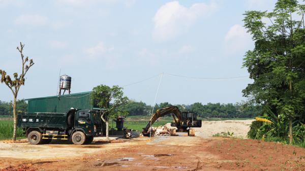 Cẩm Khê: Đình chỉ mọi hoạt động tập kết cát trái phép của công ty TNHH Tiến Cường