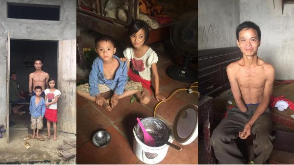 Tân Sơn - Phú Thọ: Người cha cụt tay và bữa cơm nguội với muối trắng cho hai đứa con