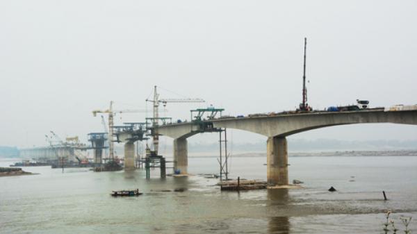 Phú Thọ: Tăng tốc hoàn thành đúng tiến độ, đảm bảo chất lượng dự án cầu Ba Vì - Việt Trì