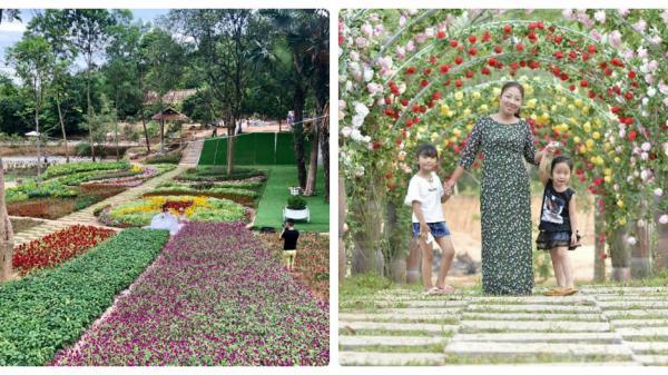 HOT: Thỏa sức sống ảo ở khu vui chơi, thung lũng hoa bạt ngàn chuẩn bị khai trương ở Phú Thọ