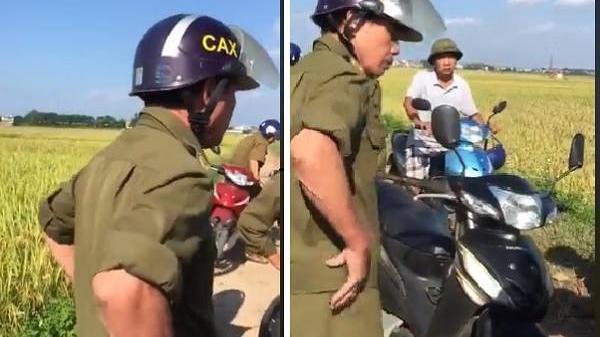 Phú Thọ: Xôn xao clip công an xã 'cấm cửa' máy gặt ở địa phương khác xuống đồng