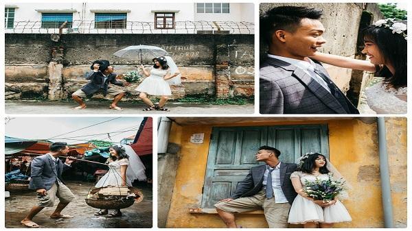 """""""Rớt hàm"""" với phong cách chụp ảnh cưới thời """"Chí Phèo – Thị Nở"""" của đôi bạn trẻ Phú Thọ"""