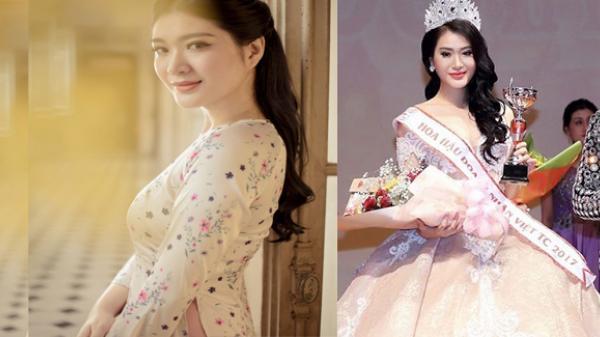 """Những điều chưa biết về người đẹp """"xứ Nẫu"""" đăng quang Hoa hậu Doanh nhân Việt toàn cầu"""