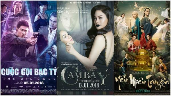 Loạt phim chiếu rạp hấp dẫn mở màn năm 2018