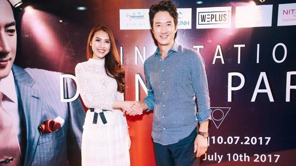 Hoa hậu Tường Linh tự tin khoe sắc bên 'Vua cảnh nóng xứ Hàn'