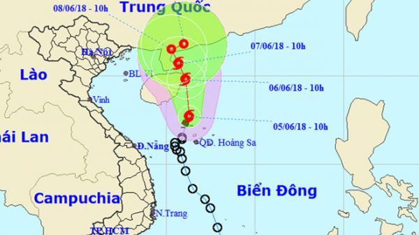 Áp thấp mạnh thành bão, hướng thẳng Trung Quốc